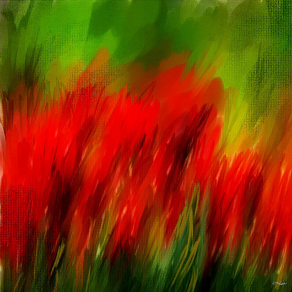 Red And Green Print by Lourry Legarde