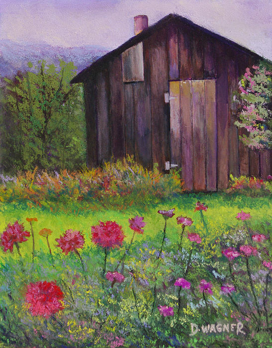 Red And Pink Flowers Print by Denise Wagner