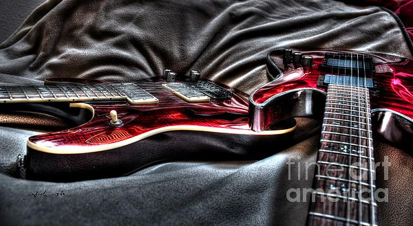 Red And Ready Digital Guitar Art By Steven Langston Print by Steven Lebron Langston