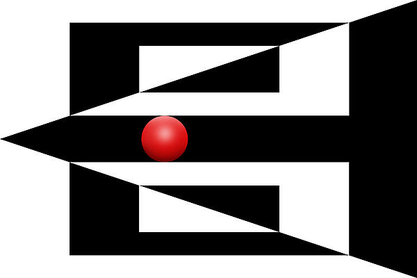 Red Ball 3 Print by Mike McGlothlen