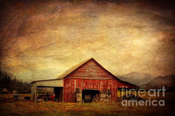 Red Barn  Print by Joan McCool