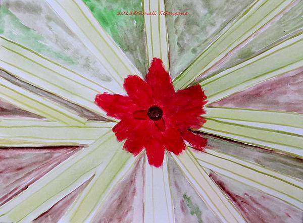 Red Brilliance Print by Sonali Gangane