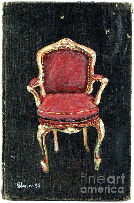 Red Chair Print by Cathy Peterson
