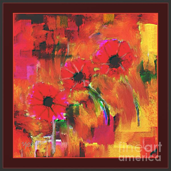 Red Flowers Print by Nedunseralathan R