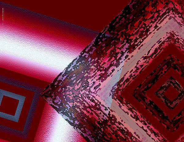 Red Fusion Print by Mario  Perez
