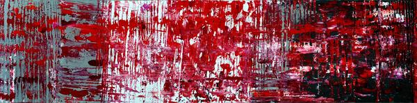 Red Grey White And Black Print by Martina Niederhauser
