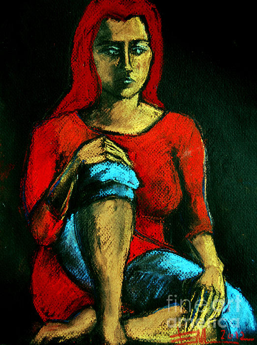 MONA EDULESCO - Emona Art - Red Hair Woman