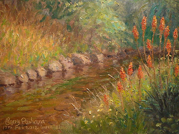 Red Hot Pokers Print by Terry Perham