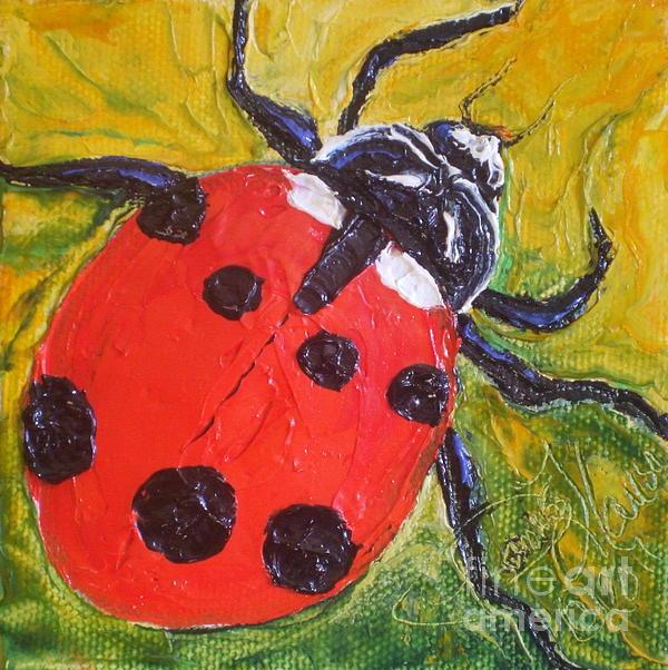 Red Ladybug Print by Paris Wyatt Llanso