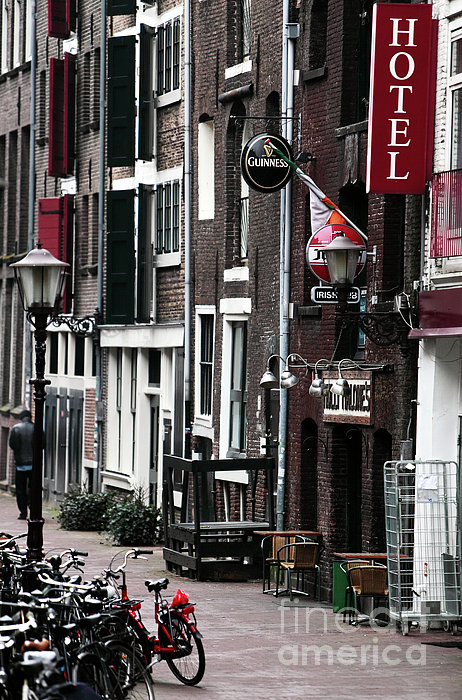 Red Light District Hotel Print by John Rizzuto