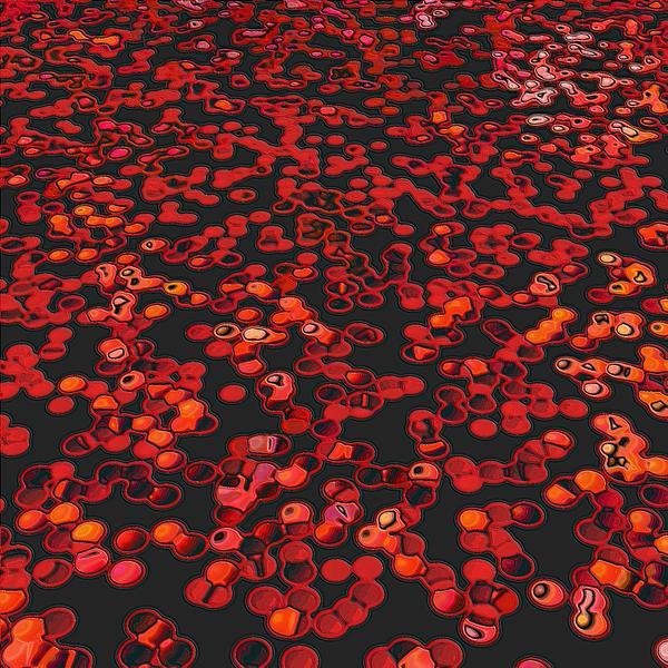Red Matter/orgasmic Symbolism Print by George Curington