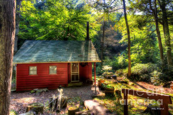 Red Mountain Home Print by Dan Friend