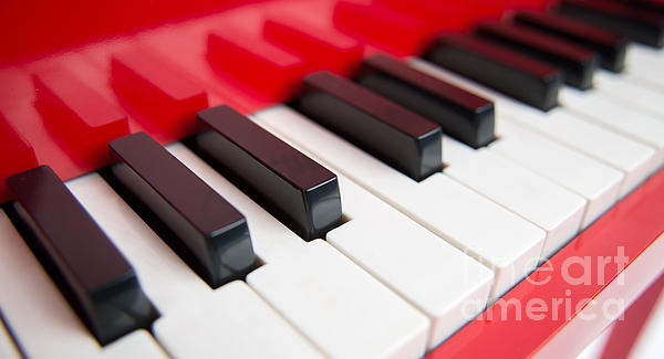 Red Piano Print by Yew Kwang