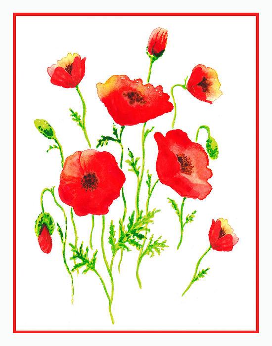 Irina Sztukowski - Red Poppies Botanical Design