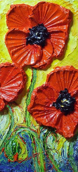Red Poppies II Print by Paris Wyatt Llanso