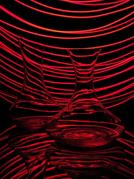 Red Rhythm II Print by Davorin Mance