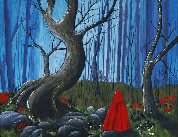 Red Riding Hood In The Forest By Anastasiya Malakhova