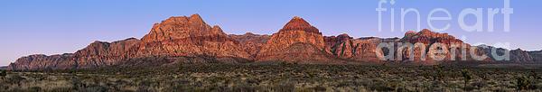 Red Rock Canyon Pano Print by Jane Rix