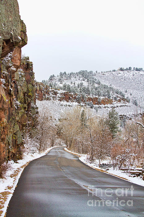 Red Rock Winter Drive Print by James BO  Insogna