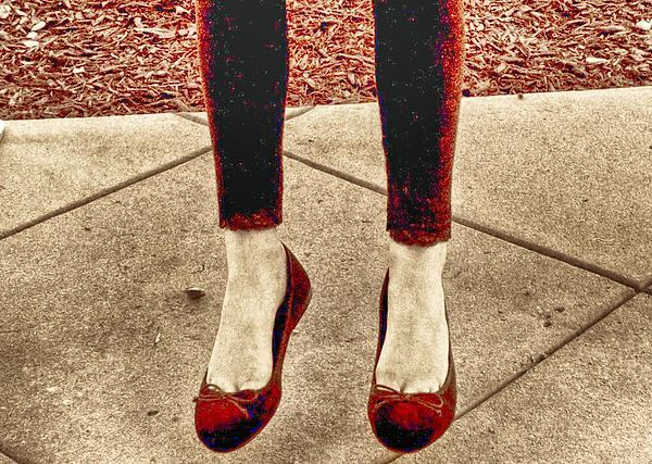 Red Shoes Print by Kristina Deane