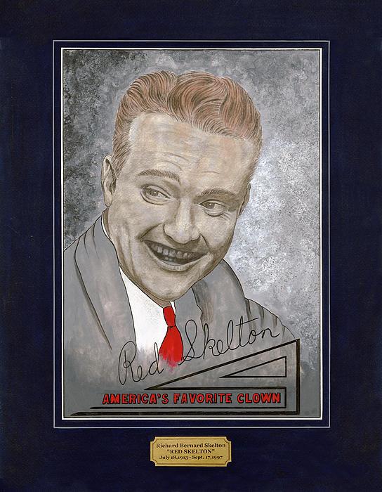 Red Skelton Portrait Print by Herb Strobino