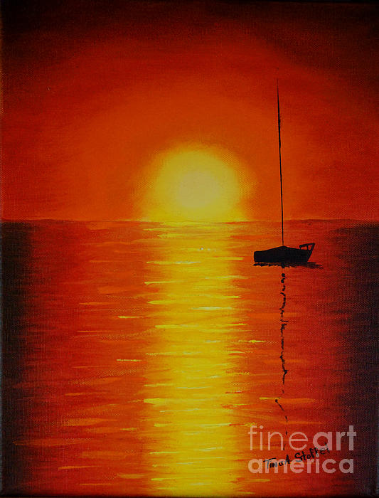 Red Sunset 1 Print by Tina A Stoffel