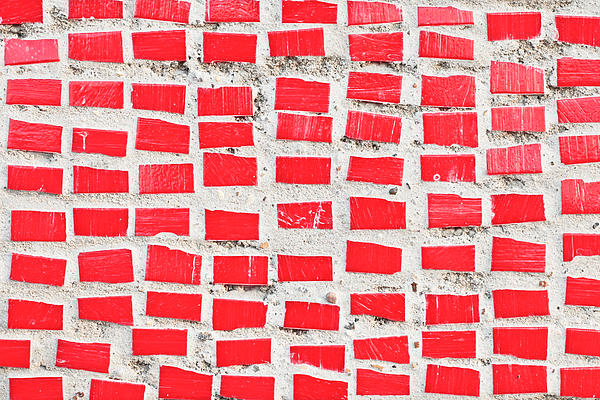 Red Tiles Print by Tom Gowanlock