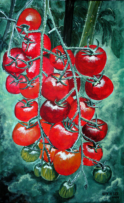 Red Tomatos Print by Huy Lee
