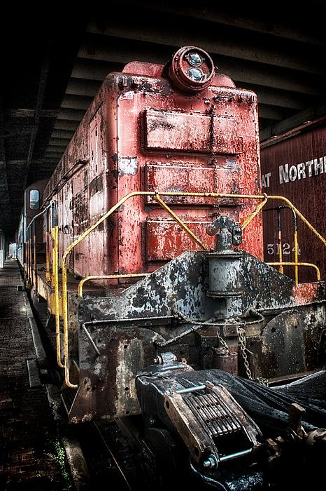 Red Train Print by Todd and candice Dailey