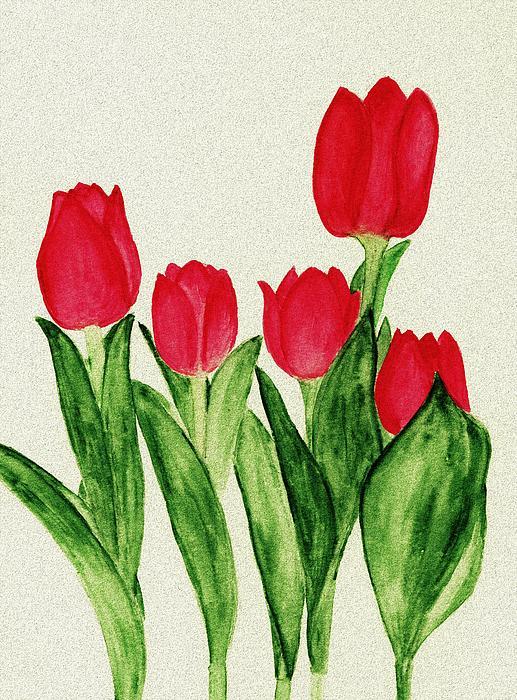 Red Tulips Print by Anastasiya Malakhova