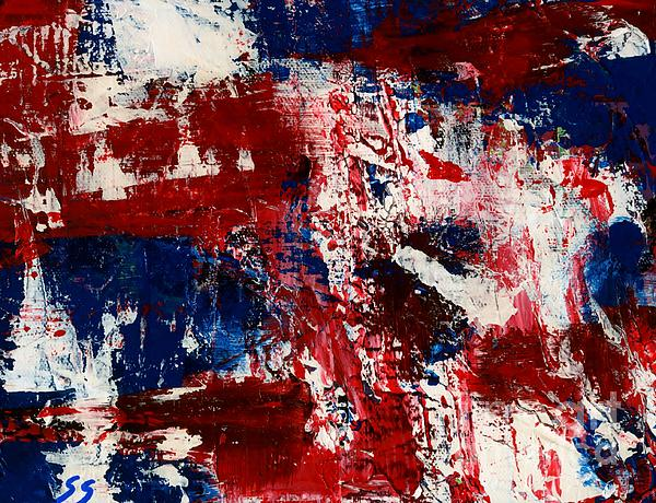 Red White And Blue Print by Susan Sadoury