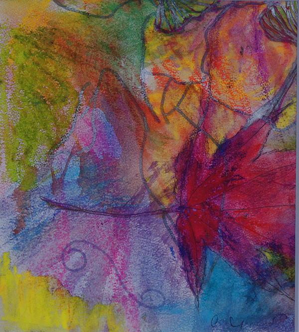 Redgum In Spring Breezes Print by Claudia Smaletz