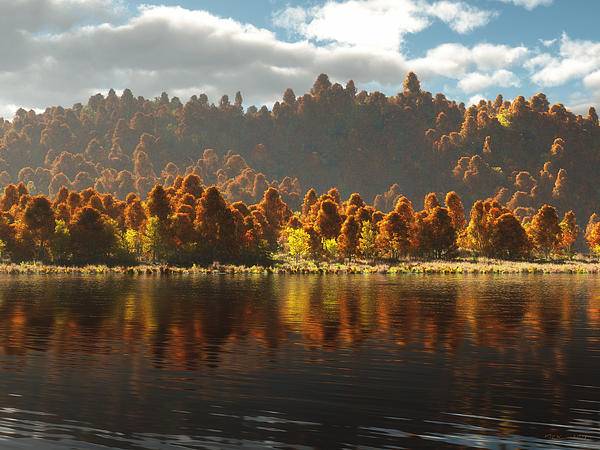Reflections Of Autumn Print by Melissa Krauss