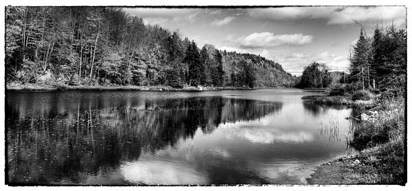 David Patterson - Reflections on Bald Mountain Pond - Old Forge New York