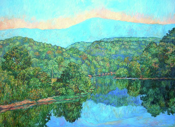 Reflections On The James River Print by Kendall Kessler