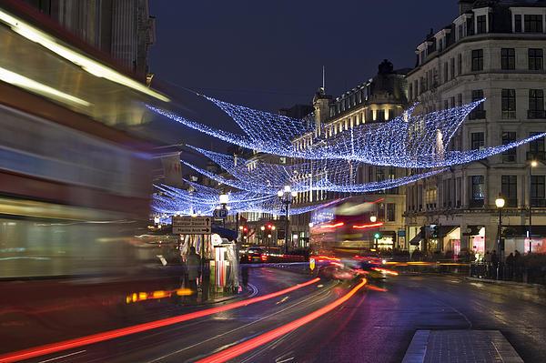 Regent Street Lights Print by Matthew Gibson