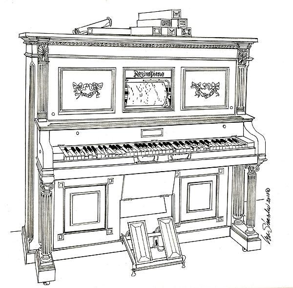 Regina Player Piano Print by Ira Shander