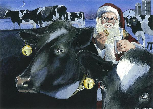Reindeer Wannabes Print by Denny Bond