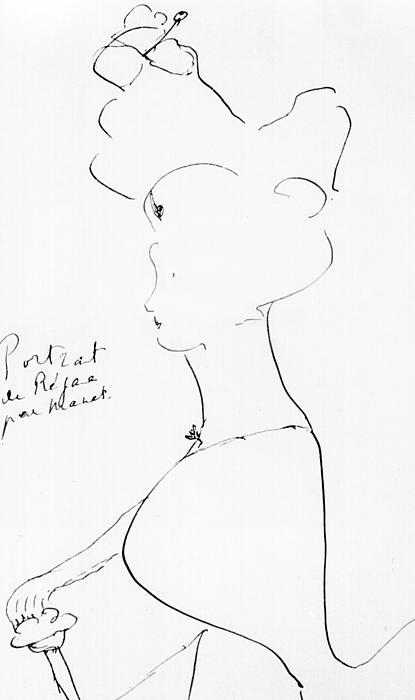 Rejane Print by Marcel Proust