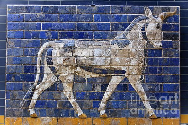 Relief From Ishtar Gate In Babylon Print by Robert Preston