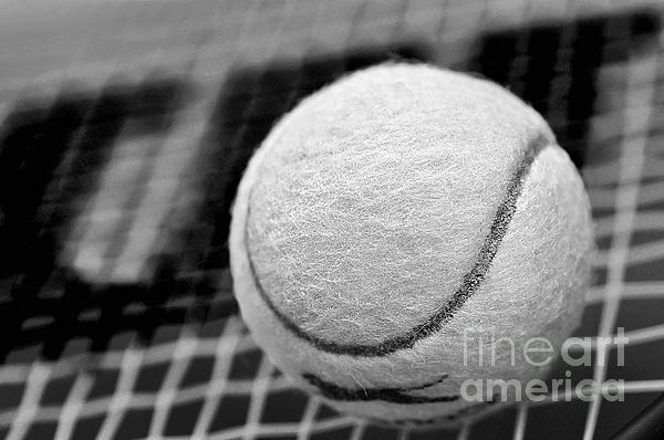 Remember The White Tennis Ball Print by Kaye Menner