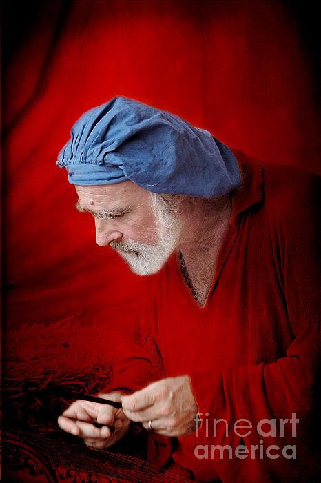 Renaissance Music Man Print by Ellen Cotton