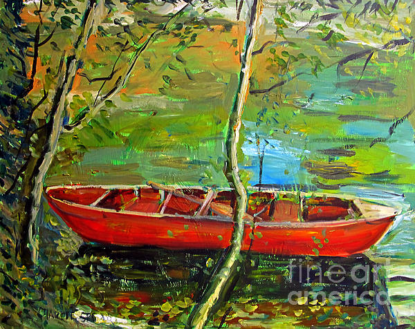 Renoirs Canoe Print by Charlie Spear