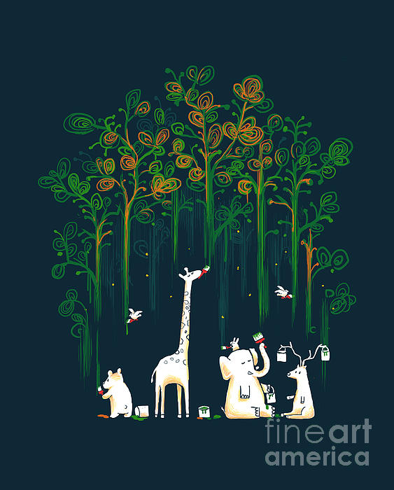 Repaint The Forest Print by Budi Satria Kwan