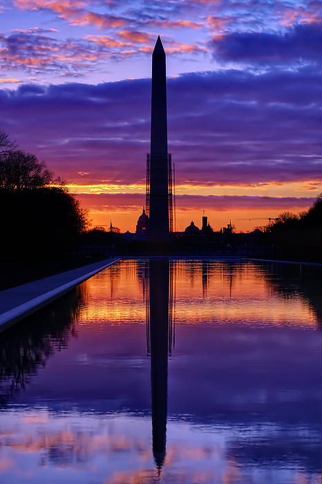 Repairing The Monument IIi Print by Metro DC Photography