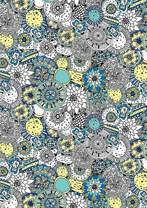 Repeat Print - Floral Burst Print by Susan Claire
