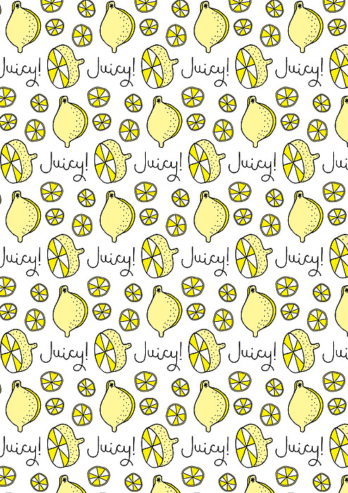 Repeat Prtin - Juicy Lemon Print by Susan Claire