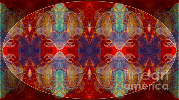 Repeating Realities Abstract Pattern Artwork By Omaste Witkowski Print by Omaste Witkowski