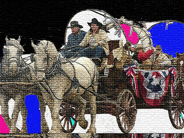 how to make a covered wagon for a parade