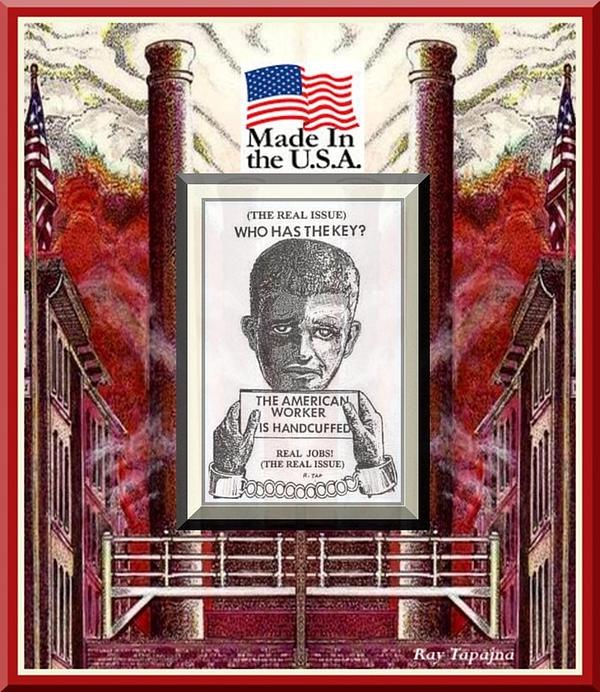 Reshoring The American Dream Print by Ray Tapajna